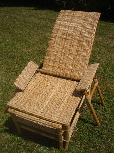 chaise longue rotin chaise longue rotin des 233 es 70 80