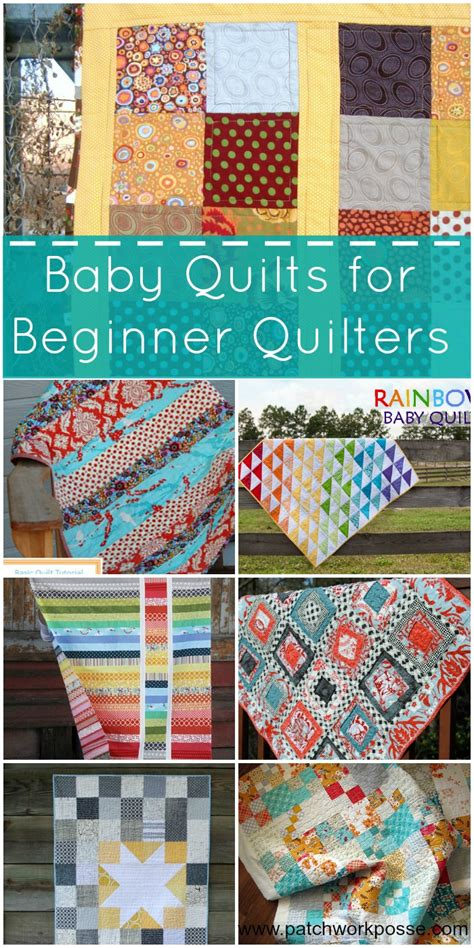 How To Patchwork For Beginners - 20 baby quilts for beginners