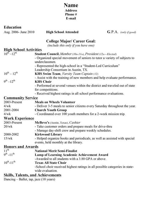 high school resume for college embersky me