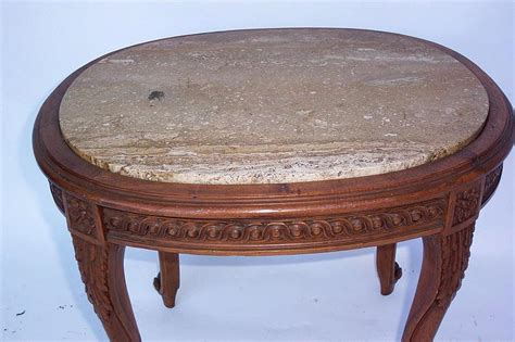 Wood Table Tops For Sale by Oval Marble Top Table W Wood Base Cabriole Legs For Sale Antiques Classifieds