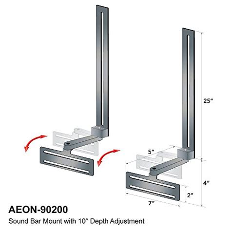 Tv Bracket Adjustable Up And 1 3mm Thick 100 X 100 Pitch For T30 4 soundbar speaker mount with depth adjustments for tv wall mount brackets buy in uae