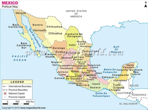 political map mexico pin mexico political map 1997 size on