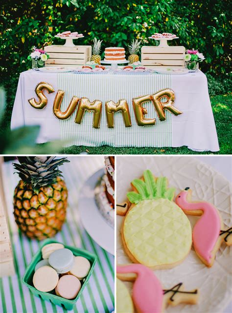 summer party ideas colorful chic fruity summer kids party hostess with