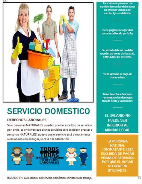 servicio domestico cotizaciones 2016 cuotas servicio domestico 2016 derecho laboral terminaci