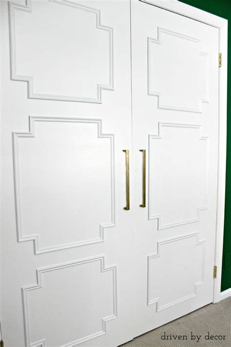 Add Moulding To Door by Remodelaholic Add Molding To Update Closet Doors