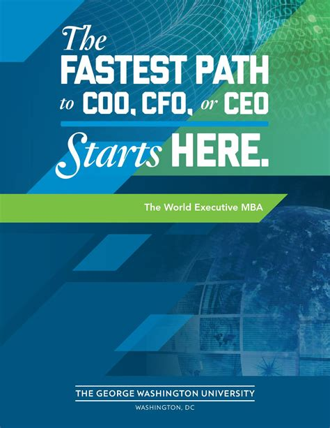 Can An Mba Help Me Become A Cfo by World Executive Mba By Gw School Of Business Issuu