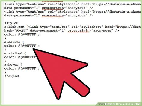 html link color how to hide a link in html 8 steps with pictures wikihow