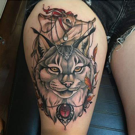 bobcat tattoo designs bobcat lynx gray felines tattoos ideas