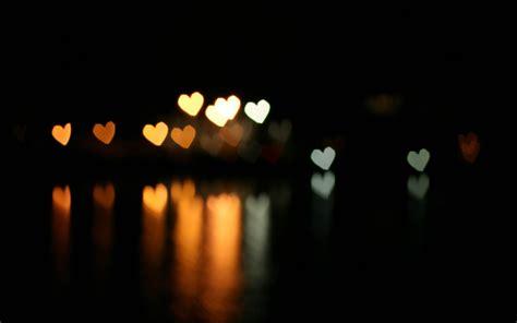 effect bokeh hearts dark background  reflection hd love