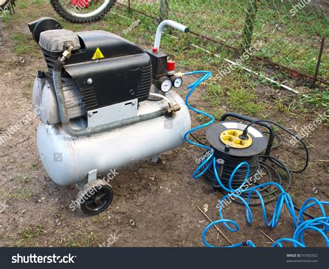 small portable air compressor home  stock photo  shutterstock