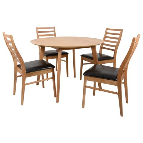 4 Chair Wooden Dining Table Mackintosh Square Oak Wooden Dining Table Furniture Set 4 Wooden Chairs Ebay