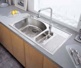 Stainless Steel Sinks For Kitchen Stainless Steel Kitchen Sink With Drainboard Kitchenidease