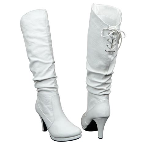 s knee high ruched high heel back lace up high