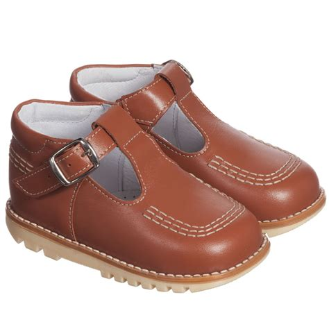 s t shoes children s classics brown leather t bar shoes