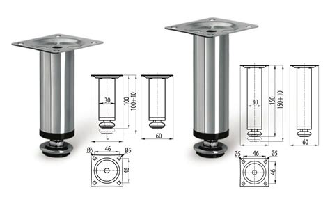 Adjustable Legs For Kitchen Cabinets Adjustable Plinth Leg For Kitchen Cabinet Furniture Sofa Chrome 100mm 150mm Ebay