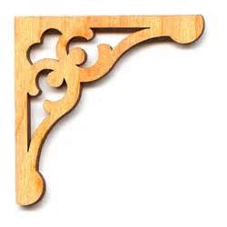 Decorative Corner Brackets For Wood Wood Cut Out Corner Bracket 2x2 Inches 2 By Lecotilloncrafts