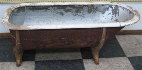 tin bathtub antique tin bathtub