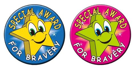 printable trophy stickers bravery award kids stickers stars labels decals dentist