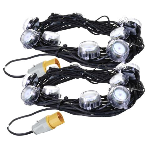defender e89332 pk2 defender led festoon lights 22m 110v