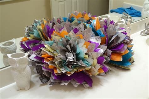 Things To Make Out Of Tissue Paper - newspaper tissue paper flowers tutorial spark