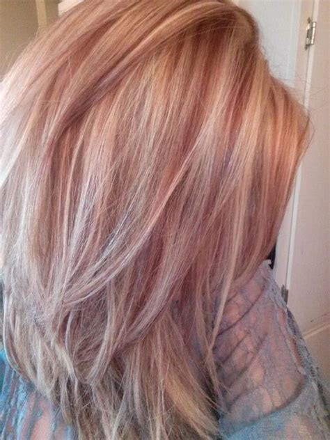 hair color ideas with highlights and lowlights google rose gold lowlights google search hair pinterest