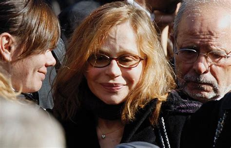 gerard depardieu pola x carla bruni sarkozy attends the funeral of french actor