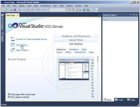 tutorial visual studio 2010 asp net asp net visual studio 2010 create new project