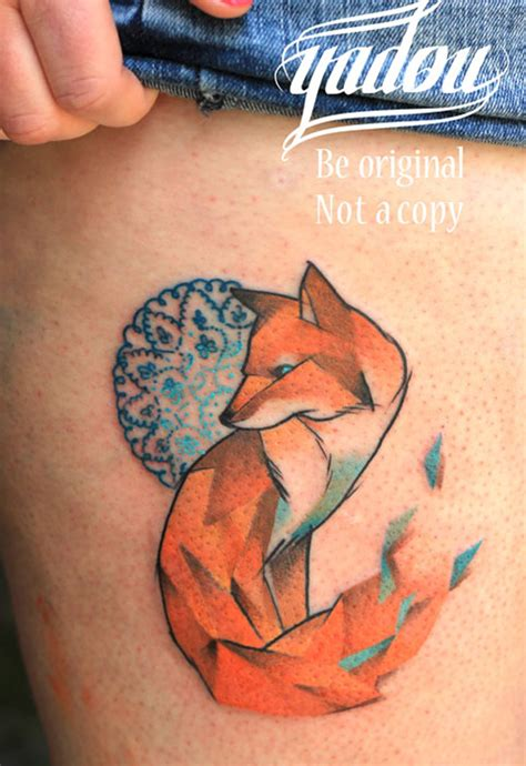 watercolor tattoo fox fox tattoos page 36