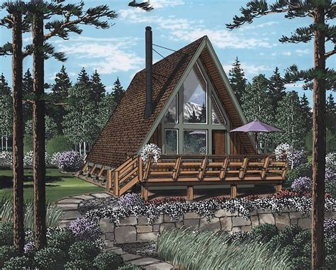 how to build an a frame cabin house plan 24308 at familyhomeplans