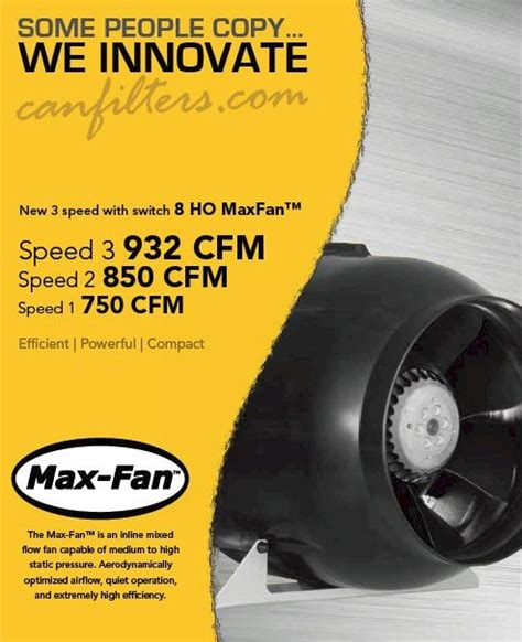 max fan 8 ho max fan 8 quot ho 3 speed 932 cfm can fan high output