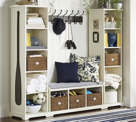 entryway bookcase samantha 3 piece bench bookcase entryway set pottery barn