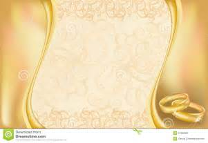 Wedding invitation card with golden rings and floral ornate vector