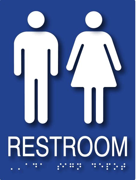 male and female bathroom signs ada signs unisex restroom sign ships today adasigndepot com