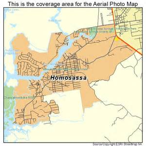 aerial photography map of homosassa fl florida