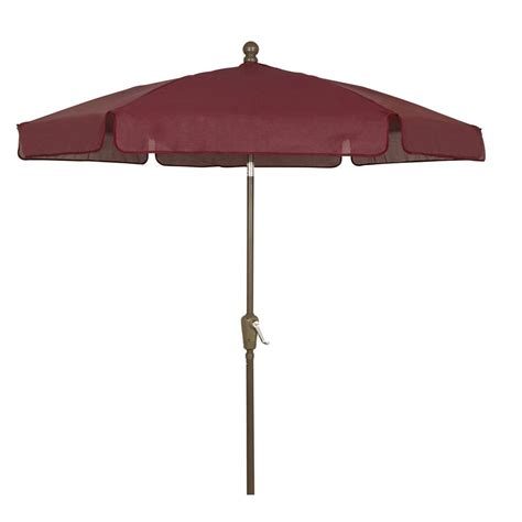 Fiberbuilt Umbrellas 7 5 Ft Patio Umbrella In Burgundy Home Depot Patio Umbrella