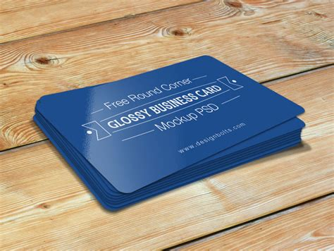 business card template rounded corner psd free corner glossy business card mockup psd