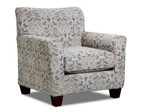 printed chair in gray tan and white splendor gray