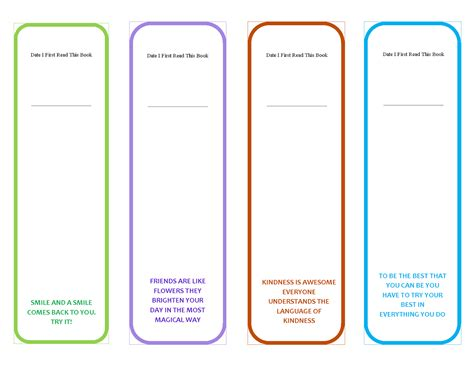templates bookmarks printable free bookmark template to print activity shelter