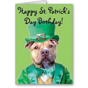 happy st s day birthday pitbull card