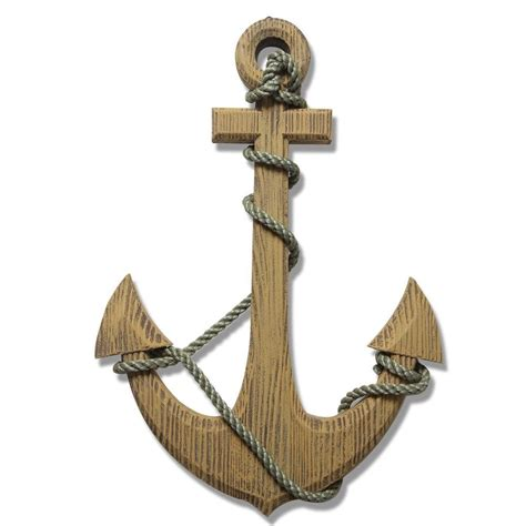 Decorative Nautical Rope by Adeco 24 Maritime Nautical Wood Decor Anchor With