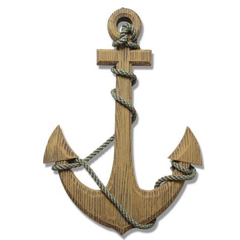 Wooden Anchor Anchor Wall Decor Adeco 24 Maritime Nautical Wood Decor Anchor With