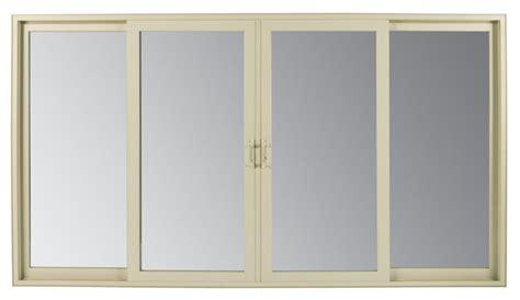 Andersen 4 Panel Sliding Glass Door 4 Panel Sliding Door Medium Tone Wood Floor Hallway Idea In San Francisco With White Walls 4