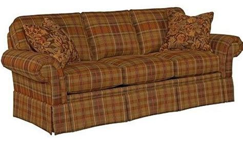broyhill plaid couch broyhill erickson 2 piece sofa set in brown plaid 6482