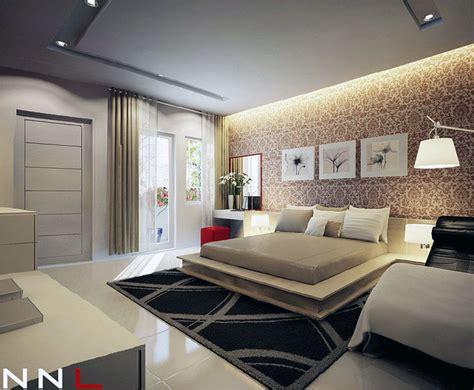 modern chic bedroom decorating ideas chic cream modern bedroom with hanging wall art decor interior design ideas