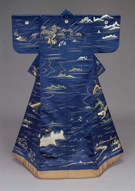 kimono water pattern kimono uchikake museum of fine arts boston
