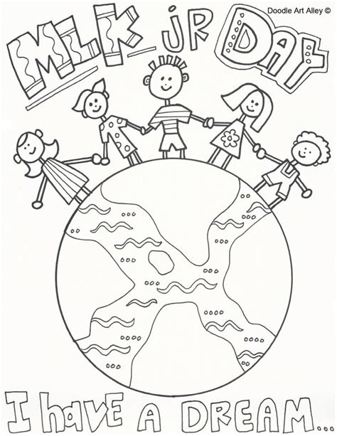 martin luther king jr coloring pages for kindergarten black history month printables classroom doodles