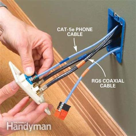 wiring your house for cable installing communication wiring the family handyman