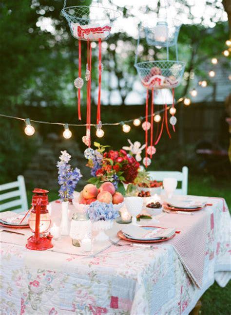 backyard summer party ideas feest styling oranje feest stijlvolle tuin feest