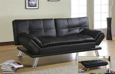 faux leather futons