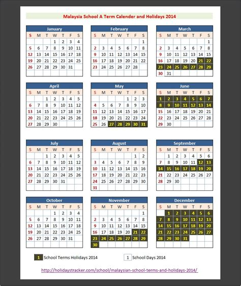 printable calendar 2016 malaysia school holiday malaysian school terms and holidays 2014 holidays tracker
